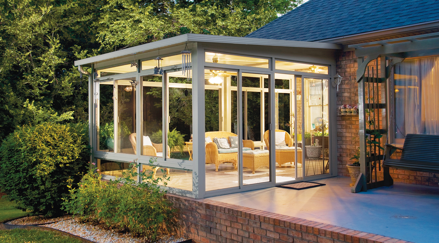 Three Season Sunrooms  25 Season Sunrooms  Patio Enclosures